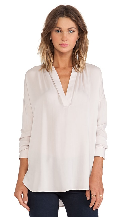 86131f822a94c0 Vince Long Sleeve Popover Blouse in Cameo