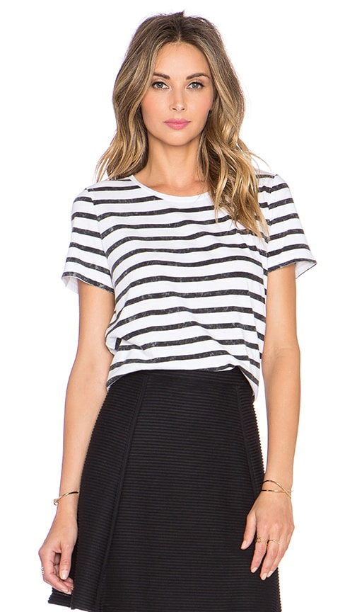 Distressed Striped Tee