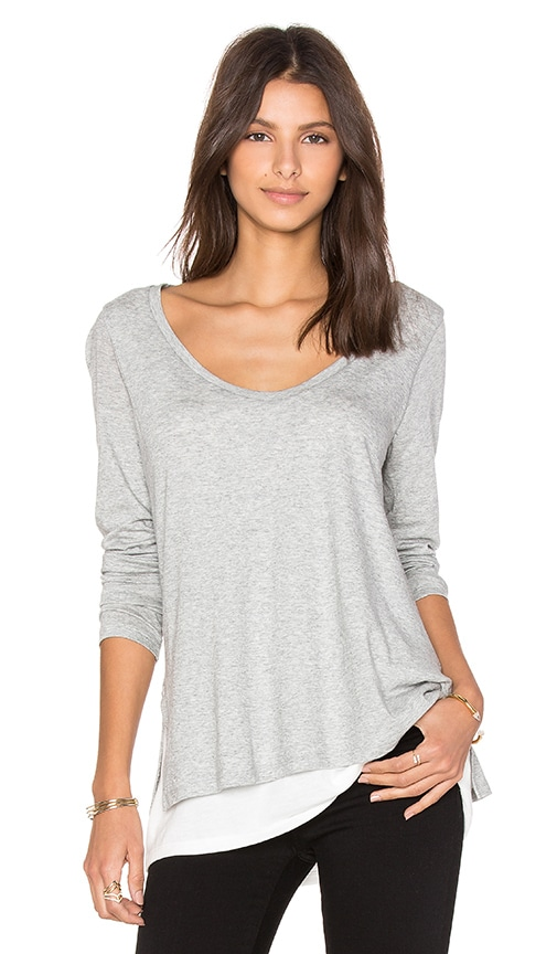 Double Layer Colorblock Tee