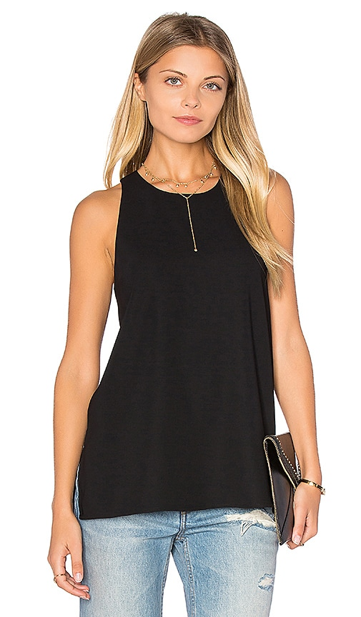 Vince Bonded Tank in Black