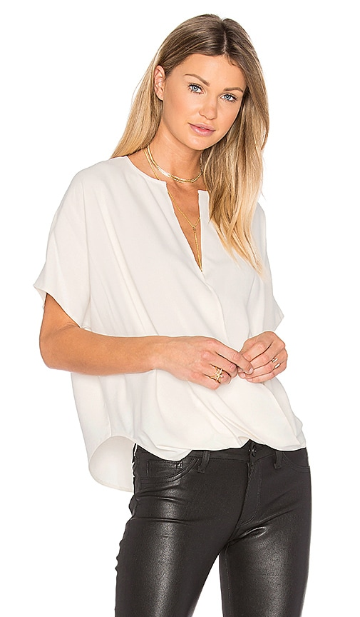 Vince Jacquard Wrap Top in White