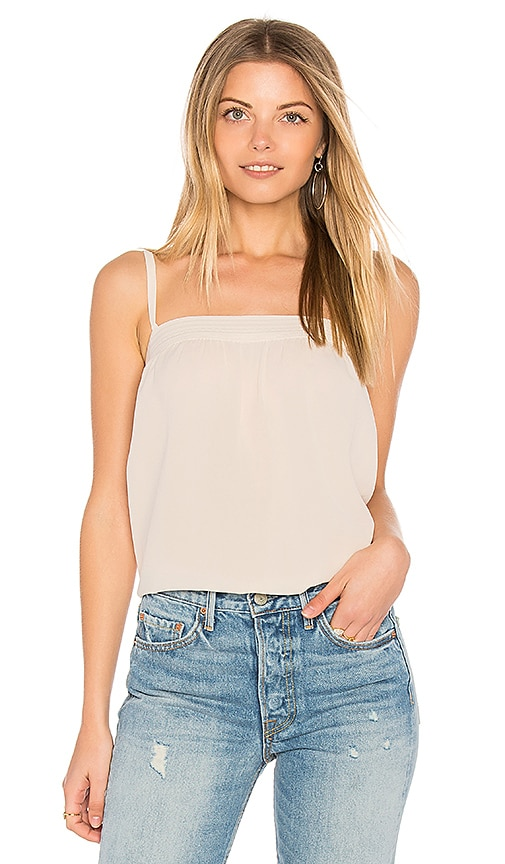 Vince Embroidered Cami in Cream