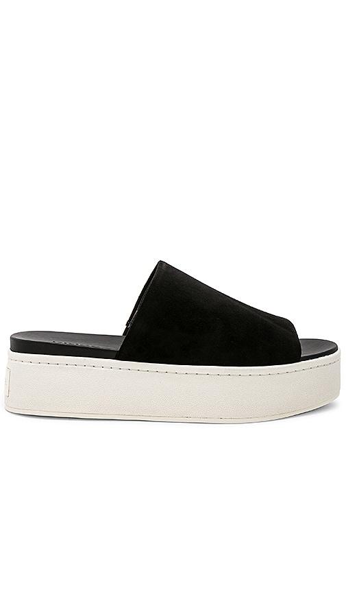 2348938ef51c Vince Walford Platform Slide in Black Kid Suede Leather