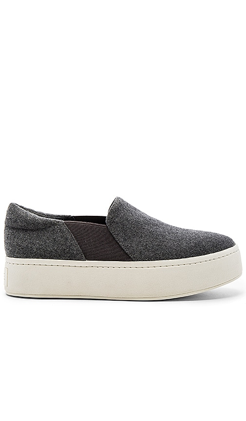 Vince Warren Slip On Sneaker in Charcoal