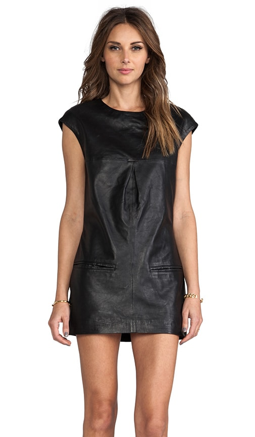 Lyel Leather Shift Dress