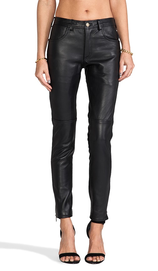 Kiara Fitted Leather Pant