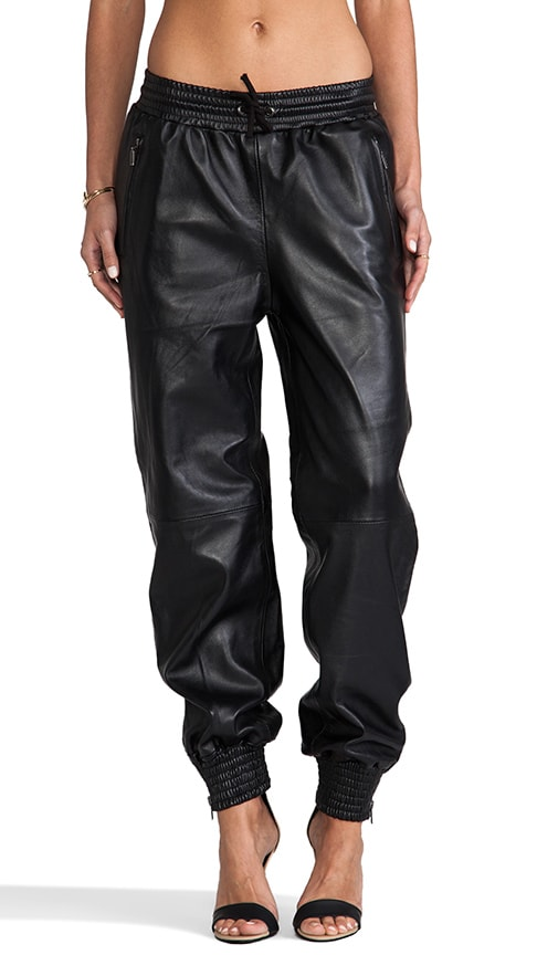 Stampaid Leather Track Pant