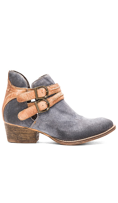 Rebels Calista Bootie in Jeans & Cognac