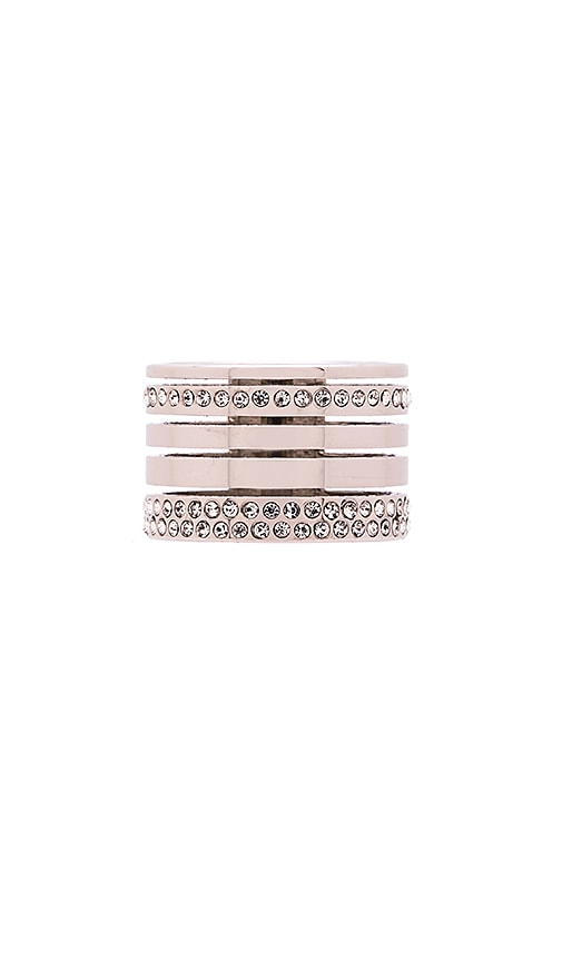 Vita Fede Pila Band Ring in Silver & Clear