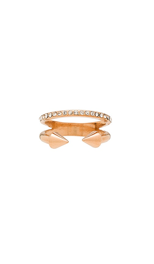 Vita Fede Ultra Mini Titan Crystal Band Ring in Metallic Gold