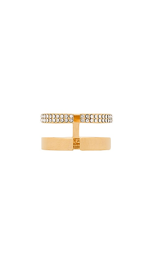 Vita Fede Nonna Due Crystal Ring in Gold & Clear