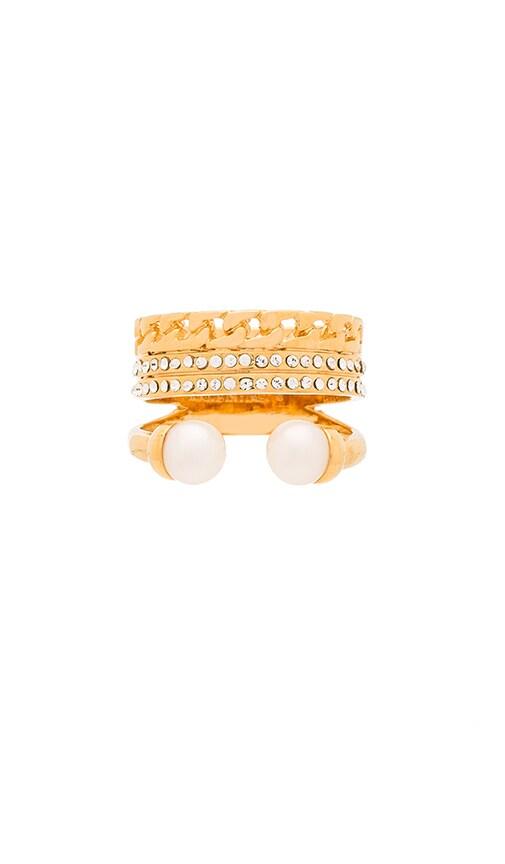 Vita Fede Catena Pearl Ring in Gold