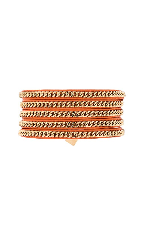 Vita Fede Capri Wrap Bracelet in Orange