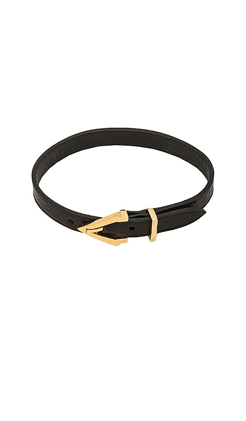 Vita Fede Mini Titan Pelle Bracelet in Black