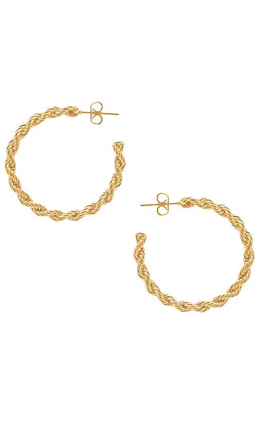 Vita Fede Nora Hoop Earring in Metallic Gold