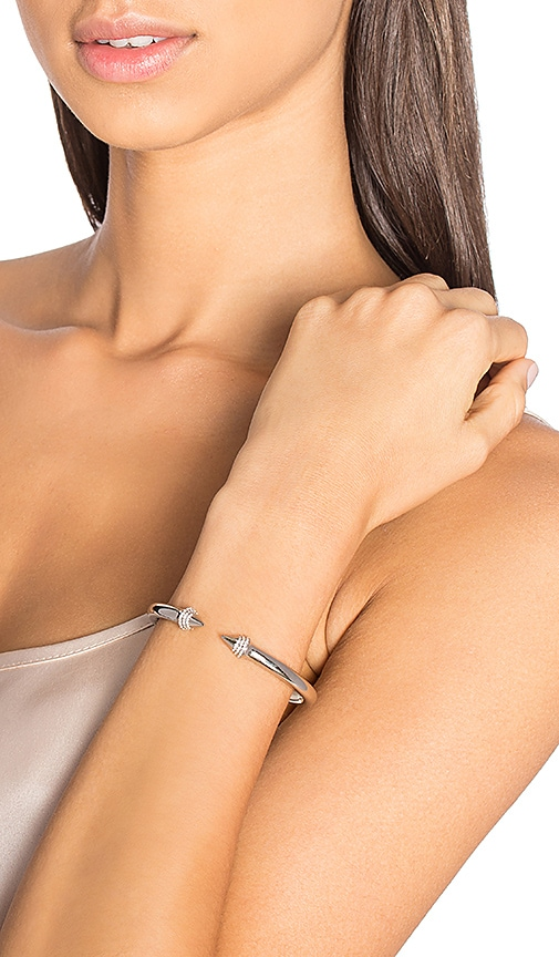 Vita Fede Mini Titan Crystal Bracelet in Metallic Silver