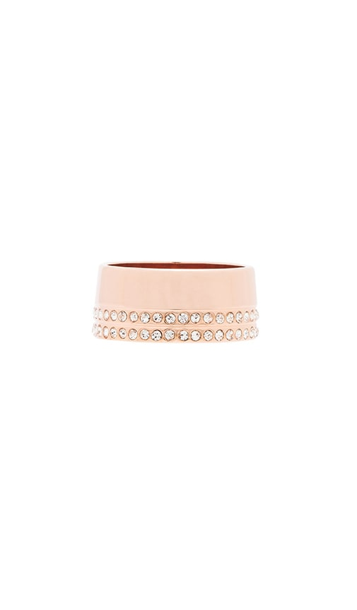 Vita Fede Mini Crystal Cigar Band Ring in Rose Gold