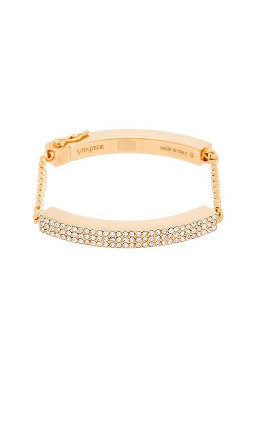 Vita Fede Aria ID Crystal Bracelet in Gold