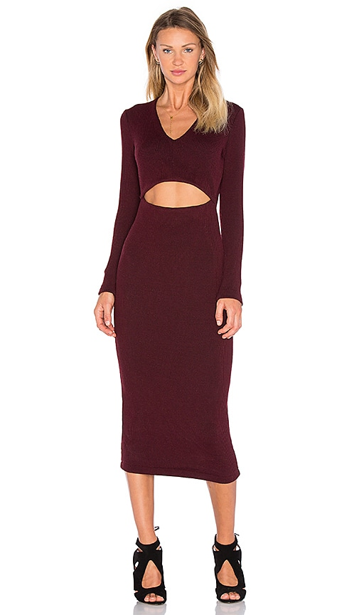 VIVIAN CHAN Hewitt Dress in Burgundy