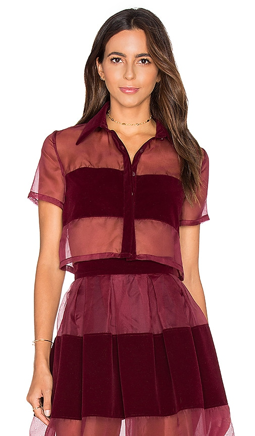 VIVIAN CHAN Rosie Top in Burgundy