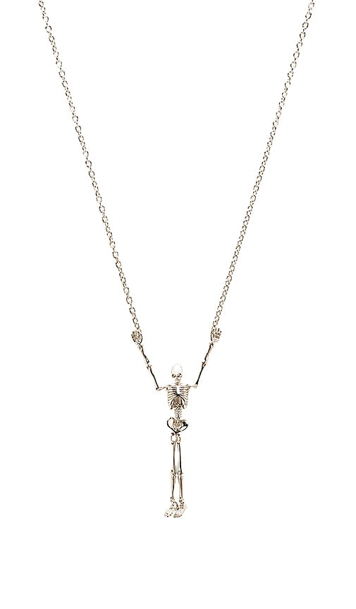 Vivienne Westwood Skeleton Long Necklace in Metallic Silver