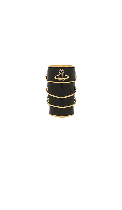Vivienne Westwood Artemis Enamel Ring in Black