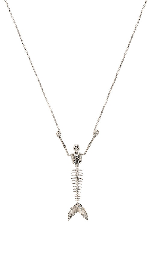 Vivienne Westwood Ariel Skeleton Necklace in Metallic Silver