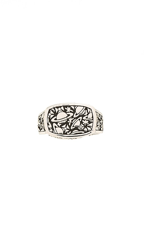 Vivienne Westwood Angelo Ring in Metallic Silver