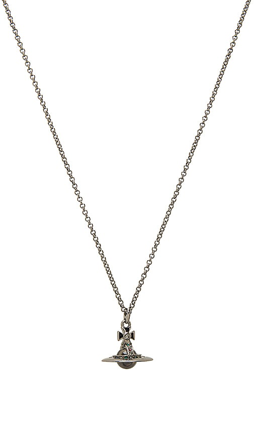 Vivienne Westwood New Tiny Orb Pendant in Metallic Silver