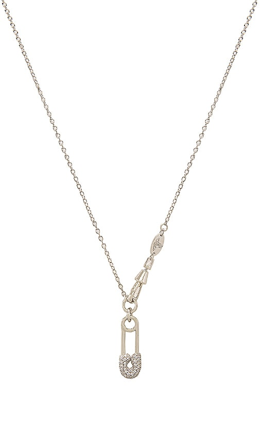 Vivienne Westwood Clovis Safety Pin Pendant in Metallic Silver