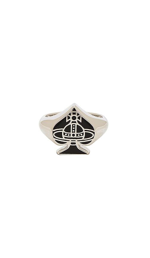 Vivienne Westwood Vegas Ring in Metallic Silver