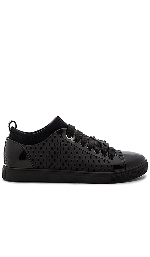 Vivienne Westwood Orb Enameled Sneakers in Black