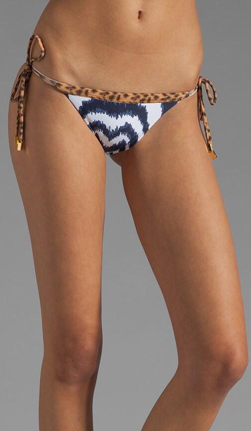 Cape Navy Tie Side Bikini Bottom