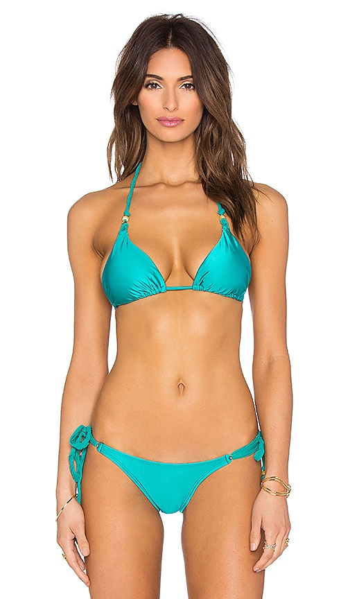 Vix Swimwear Triangle Bikini Top in Solid Jade