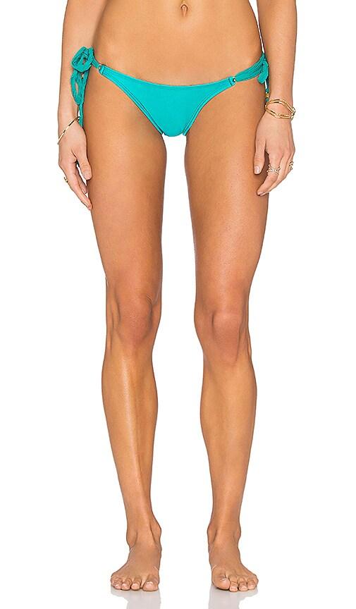 Vix Swimwear Side Tie Bikini Bottom in Solid Jade