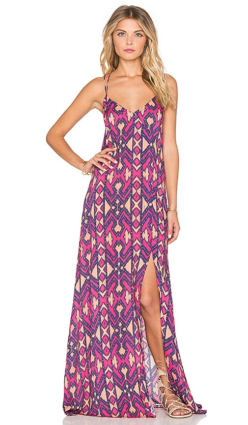 Vix Swimwear Lea Maxi Dress in Pink