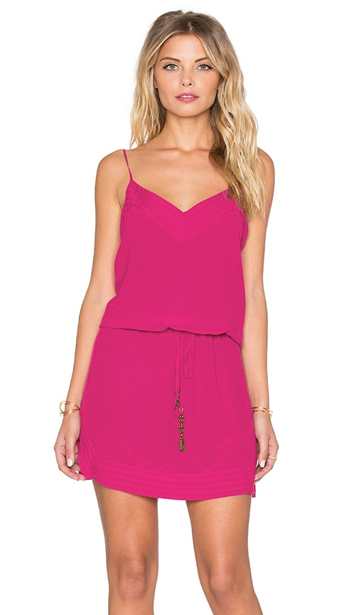 Vix Swimwear Lulu Mini Dress in Solid Raspberry