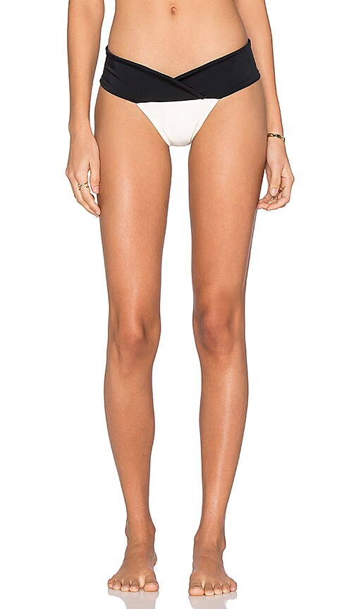 Vix Swimwear Betsy Bikini Bottom in Solid Black