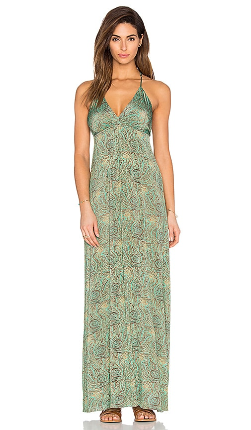 Vix Swimwear Sandra Maxi Dress in Green