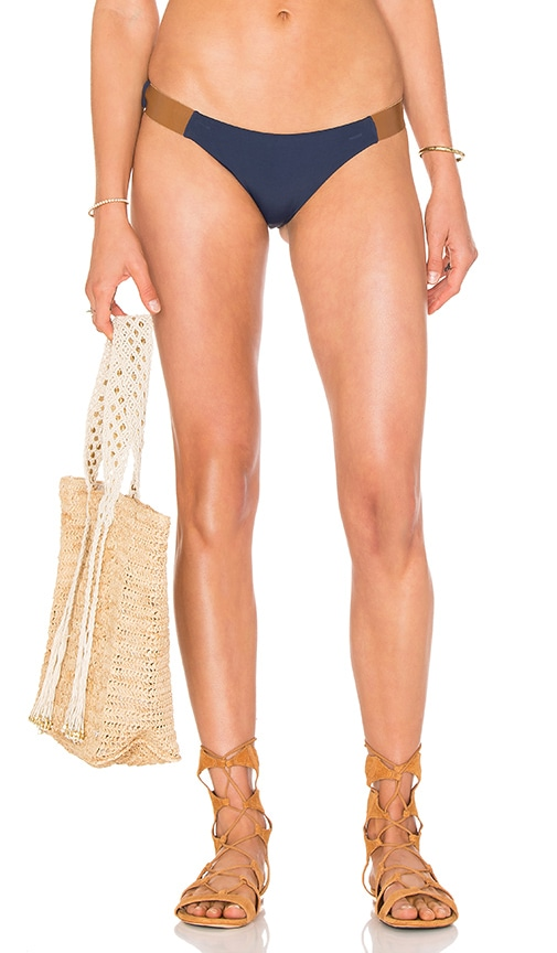 Leather Band Bikini Bottom