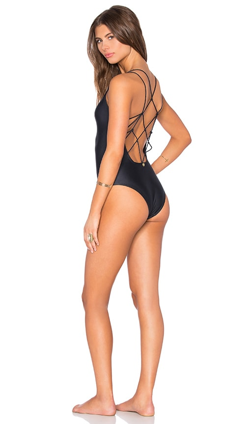 Vix Swimwear Valentina One Piece Swimsuit in Black
