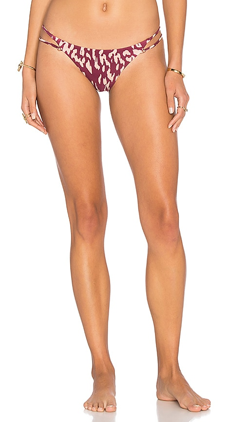 Vix Swimwear Bali Piercing Bikini Bottom in Burgundy