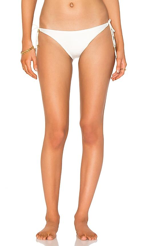 Vix Swimwear Solid Long Tie Bikini Bottom in White