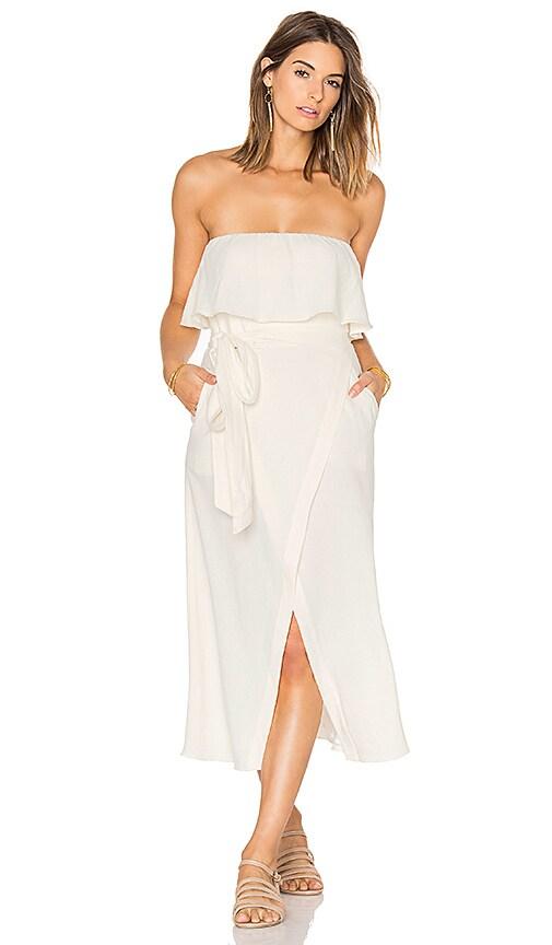 Vix Swimwear Solid Strapless Dress in White