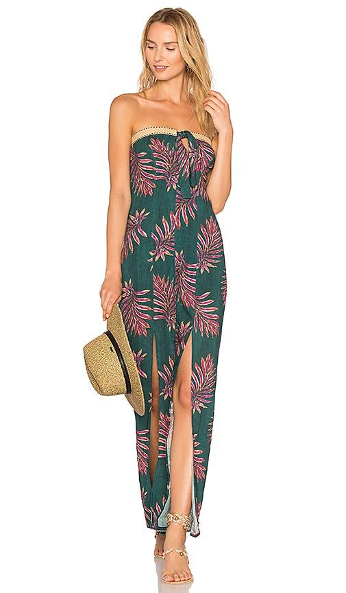 Vix Swimwear Leaves Maria Dress in Green
