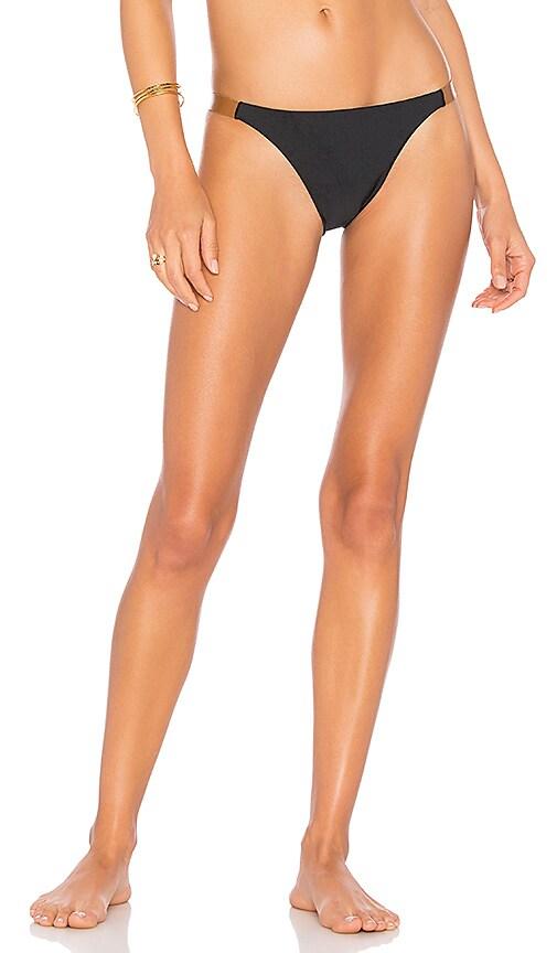 Vix Swimwear Leather Bikini Bottom in Black