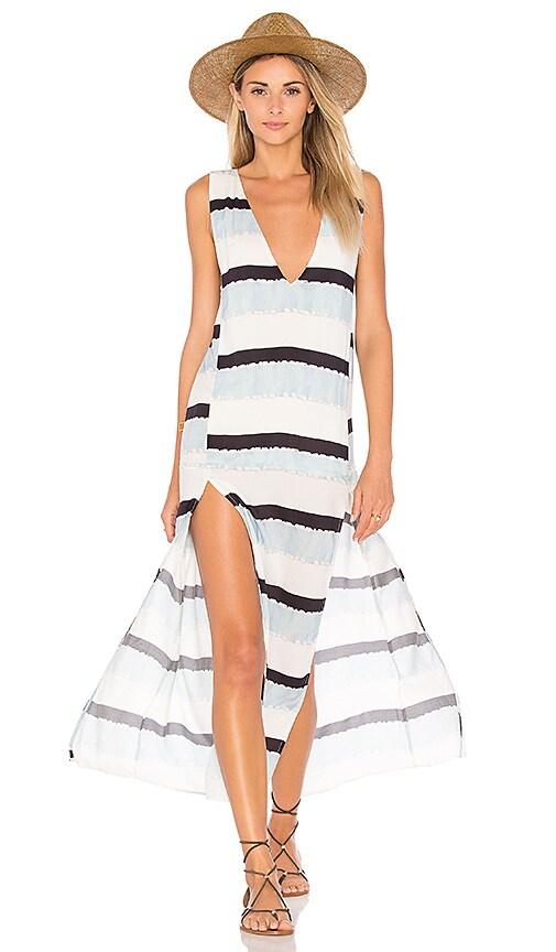 Vix Swimwear Siena Slit Maxi Dress in Blue