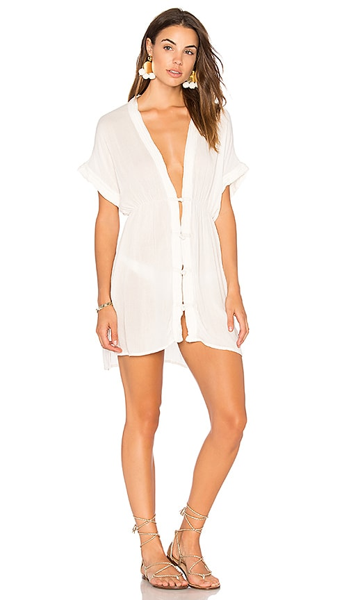 Vix Swimwear White Fuji Dress in White
