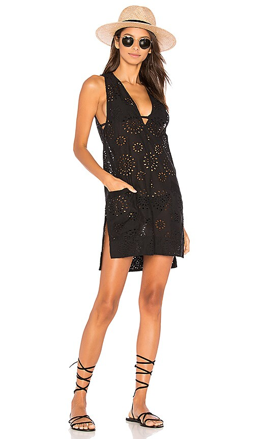 Vix Swimwear Cecile Lace Dress in Black