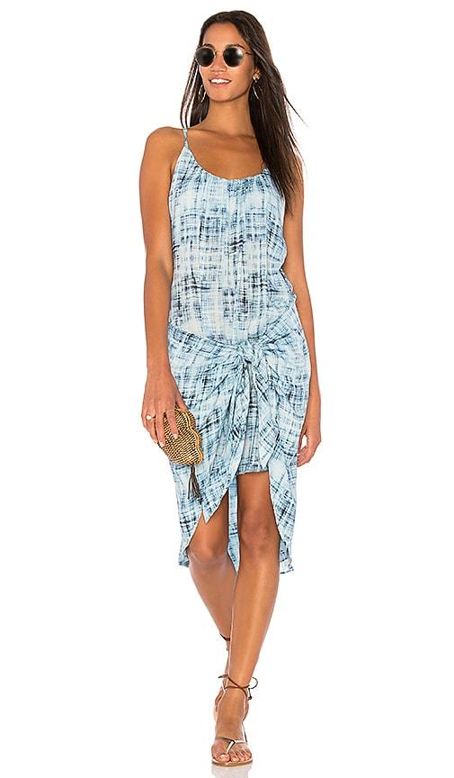 Vix Swimwear Knot Dress in Blue